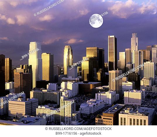 Downtown Skyline Los Angeles California USA