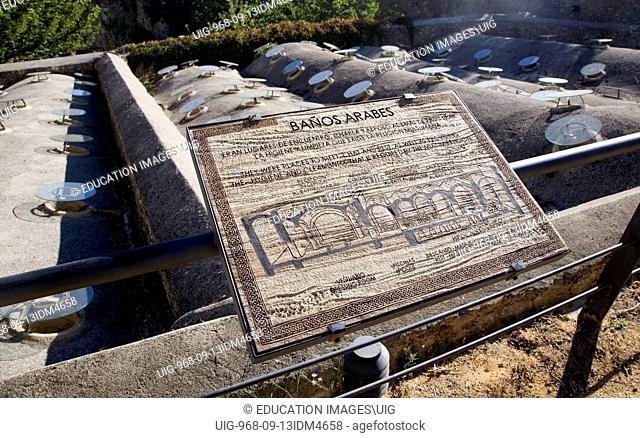 Exterior view of historic Arab Baths, Ronda, Spain