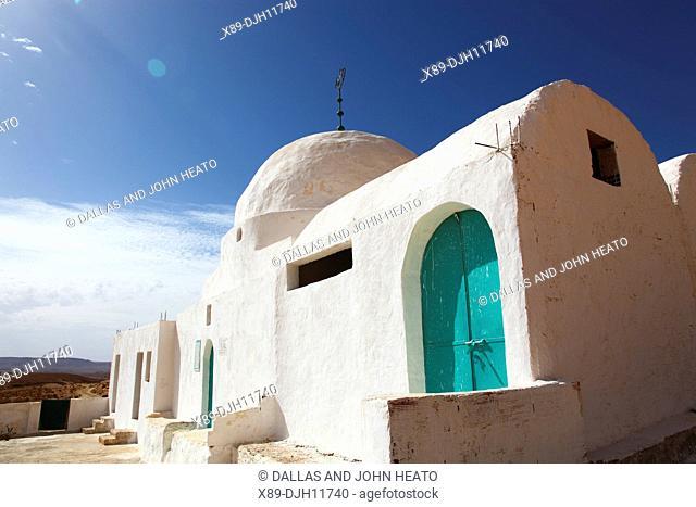 Africa, Tunisia, Tataouine, Sahara Desert, Douiret Village, Sidi Messoud Mausoleum