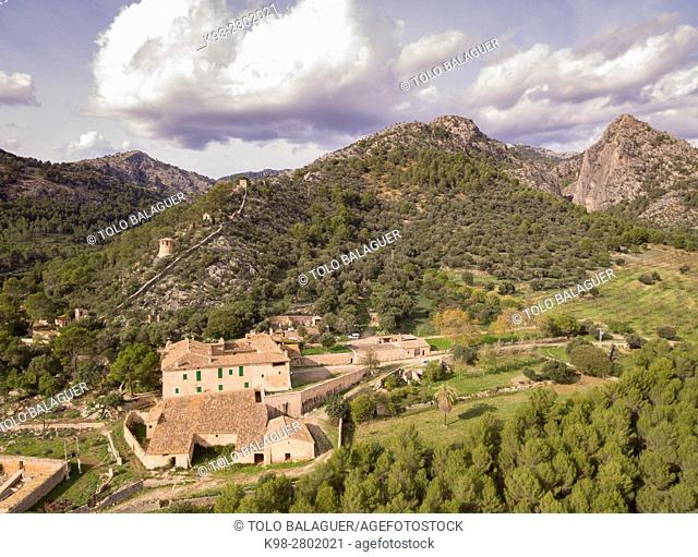 Biniazar, possession of Arab origin, Bunyola municipality, Mallorca, Balearic Islands, Spain