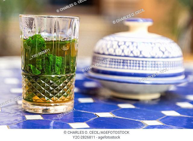 Fes, Morocco. Moroccan Mint Tea