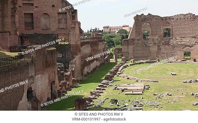 PAN, LS, HA, Daylight. View to the southwest. The Stadium was a part of the Domitian palace, and was designed for chariot races