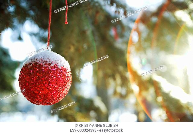 A Christmas ball