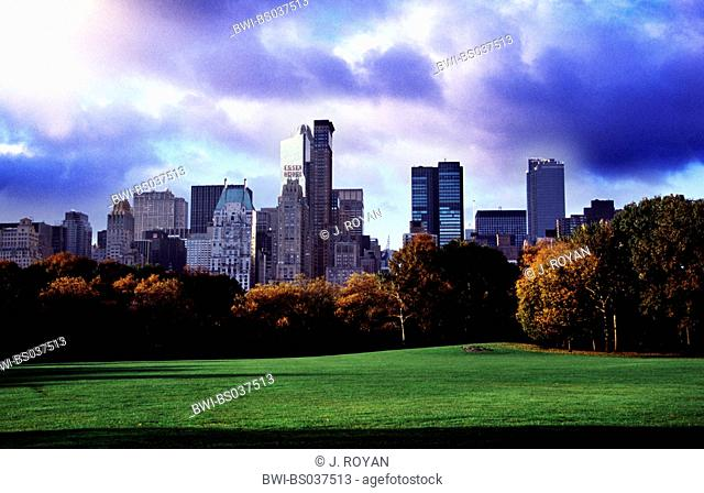 a view on the Central Park in New York City, USA, New York City