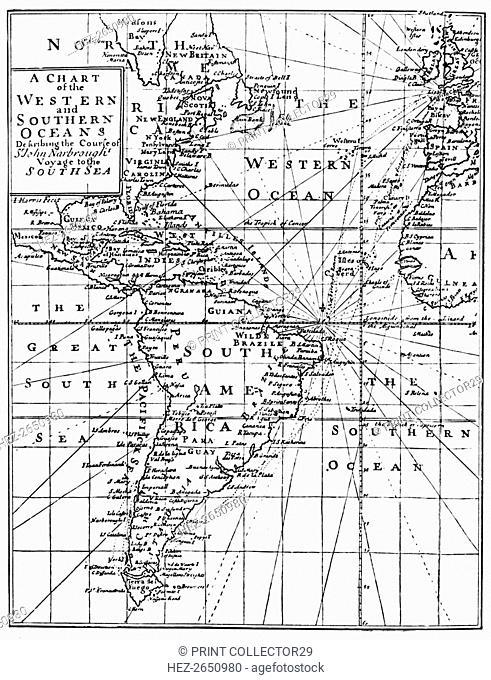 'Sir John Narbrough's Voyage', c1670, (1903). Artist: Unknown