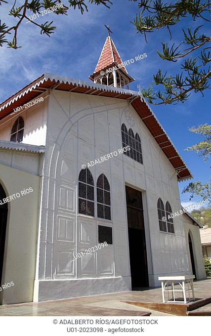The church of Santa Barbara in Santa Rosalia, Baja California is made of metal and is believed was designed by Gustave Eiffel