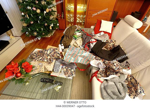 Otto Christbaumkugeln.Festively Decorated Living Room Stock Photos And Images Age Fotostock
