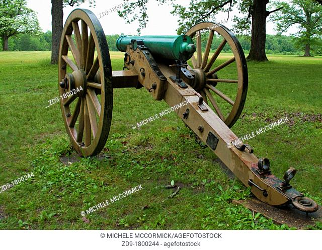 Only a few authentic cannon remain on the battlefield at Shiloh
