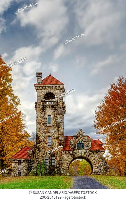 Mohonk Preserve Gatehouse II- Surrounded by the warm and bright colors of fall foliage which make this area of New Paltz, New York a popular travel destination