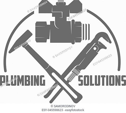 vector logo water, gas engineering, plumbing service. Web graphics, banners, advertisements, brochures, business templates