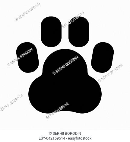Animal footprint it is black color icon