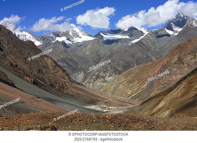 Colorful mountains of Jispa, Himachal Pradesh, India