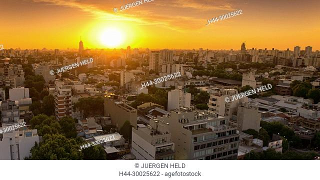 Palermo Hollywood, Panoramic view at sunset, lBuenos Aires, Argentina