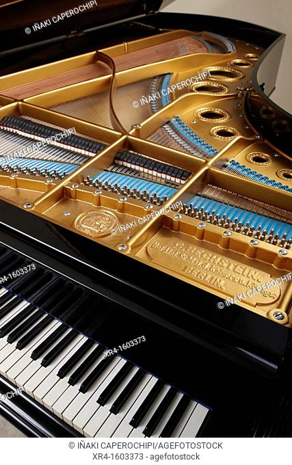 Details of the inside of a piano