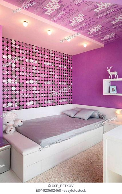 Modern blue childrens bedroom