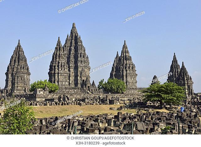 Prambanan Temple Compounds, region of Yogyakarta, Java island, Indonesia, Southeast Asia