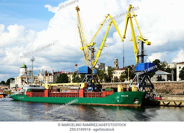 The industrial port of Vyborg, Vyborgsky District, Leningrad Oblast, Russia, Russian Federation