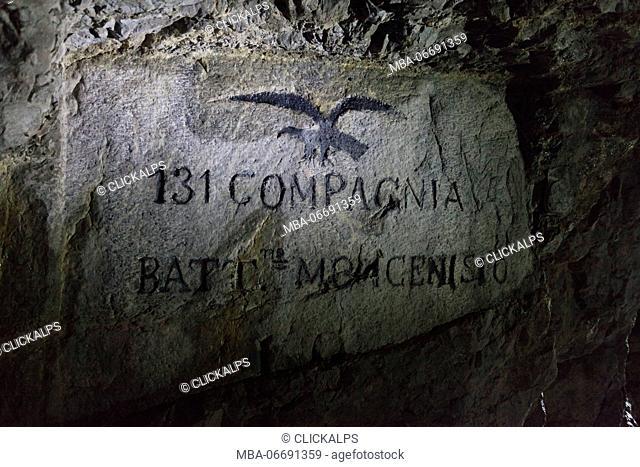 Kleiner Pal, Italy. Inside an Italian hospital cave