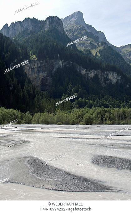 Switzerland, Europe, Bernese Oberland, Kiental, lake Tschingel, flood plain, nature reserve