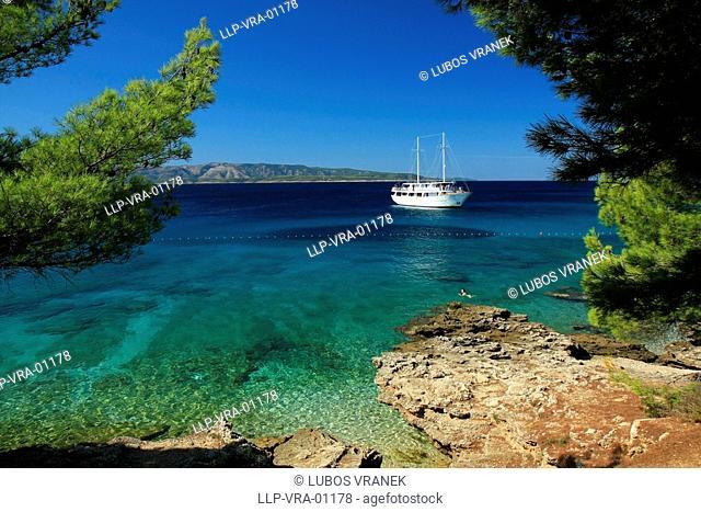 Bol seaside and beach in Brac, Croatia
