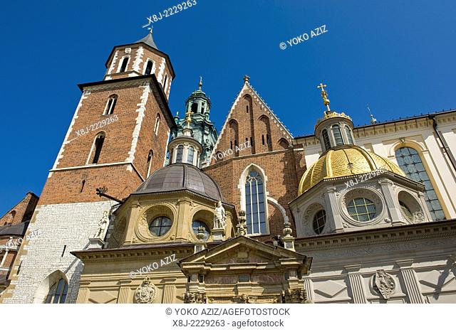 Poland, Krakow, Wawel complex, the cathedral