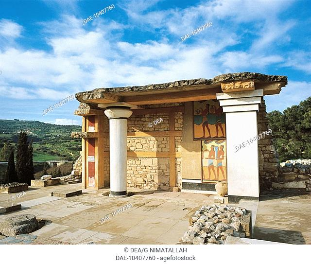 Greece - Crete - Knossos. Palace of Minos. South propylaea