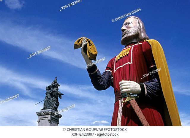 the Giant Herbert, ''Fetes du Bouffon'' Buffoon Festival at Saint-Quentin, Aisne department, Picardy region, northern France, Europe