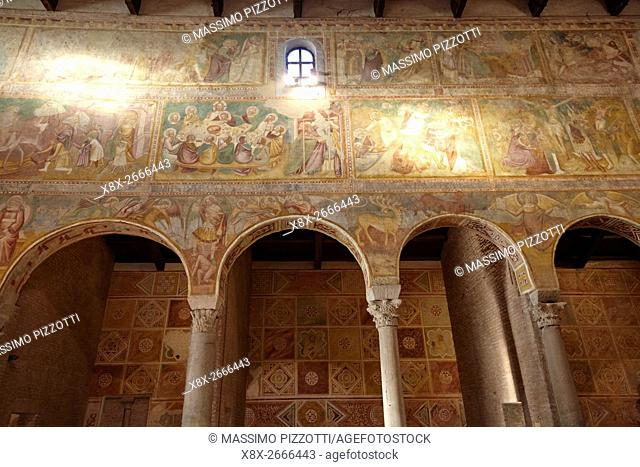 Interior of Pomposa Abbey, Codigoro, Italy