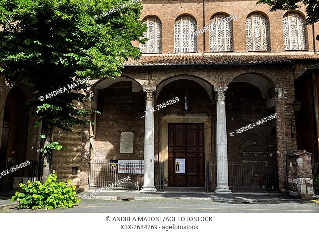 Outside Basilica Santa Sabina. Rome, Italy