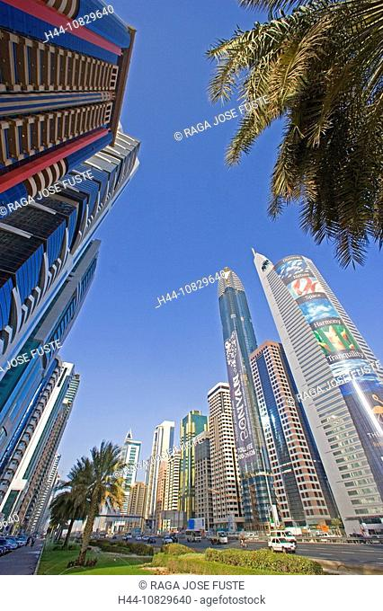 United Arab Emirates, Asia, Middle East, Arabia, East, UAE, Dubai town, city, Sheikh Zayed Road, fashionable, in a mod