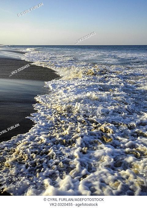 Breaking surf Virginia Beach Virginia