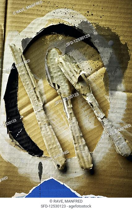 Food art: a collage with cutlery (inspired by Robert Motherwell)