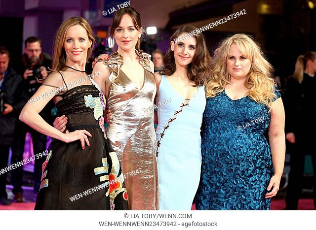 How To Be Single European premiere held at the Vue cinema - Arrivals Featuring: Leslie Mann, Dakota Johnson, Alison Brie, Rebel Wilson Where: London