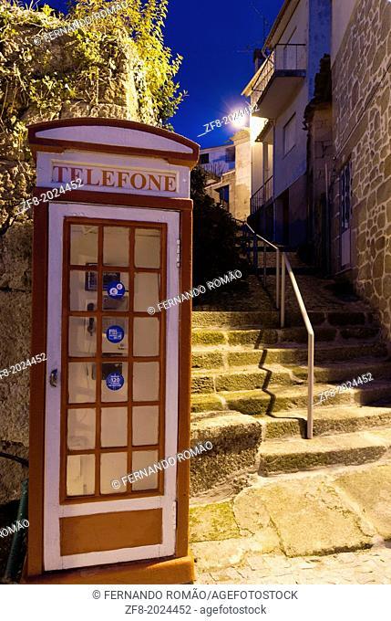 Traditional telephone box at Aldeia das Dez, Portugal