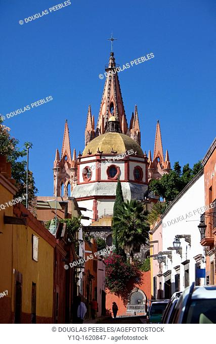 La Parroquia, Church of St  Michael the Archangel, San Miguel de Allende, Guanajuato, Mexico
