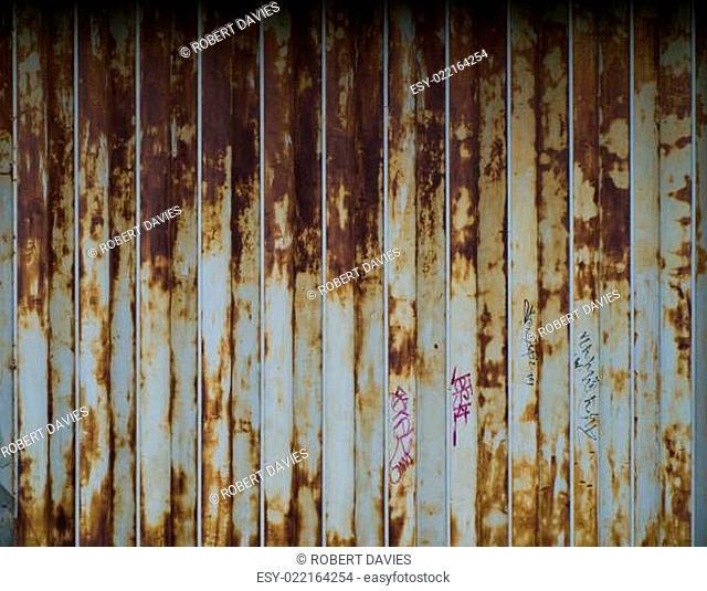 Rusted Metal Folding Door