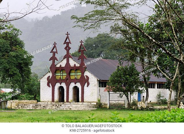 iglesia catolica, Lancetillo, La Parroquia, zona Reyna, Quiche, Guatemala, Central America