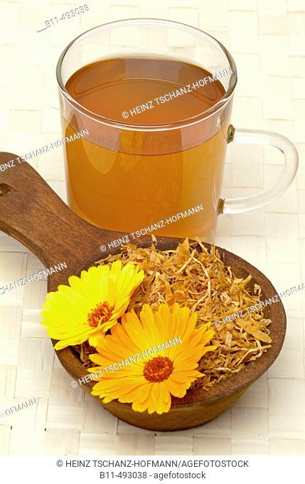 Marigold (Calendula officinalis) infusion