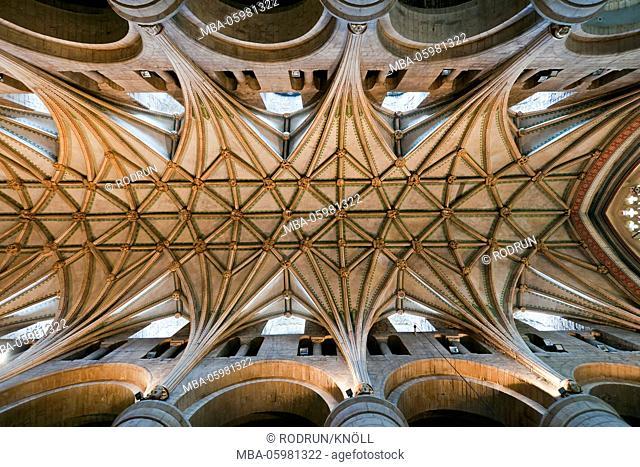 Great Britain, Gloucestershire, Tewkesbury, Tewkesbury Abbey