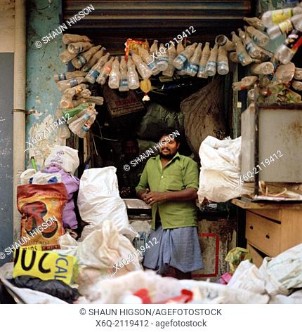Recycling business in Chennai Madras in Tamil Nadu in India in South Asia