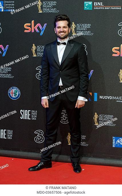 Frank Matano attends the red carpet of 62° David di Donatello Award at De Paolis Studios. Rome (Italy), march 27, 2017