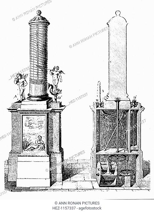 Reconstruction of a clepsydra (water clock), invented by Ctesibius of Alexandria, c270 BC (1857). Ctesibius (fl270 BC) was an inventor and mathematician who...