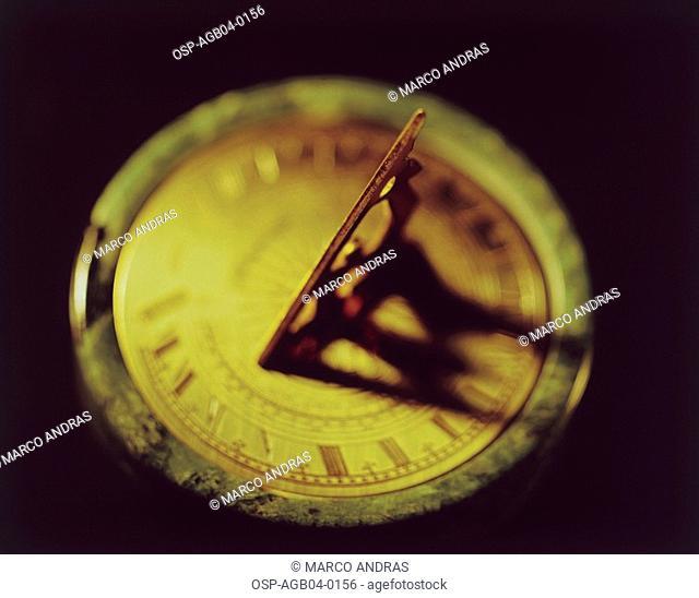 Photo illustrated, solar clock