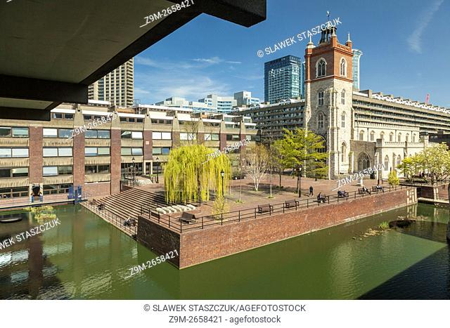 Cripplegate church in the Barbican, the City of London, England