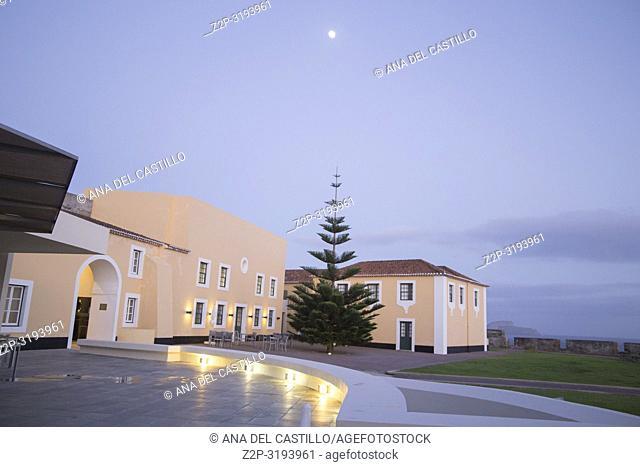 Portugal pousada hotel at Sao Sabastiao fort Angra do Heroismo Terceira Portugal Nightscape on January 2017