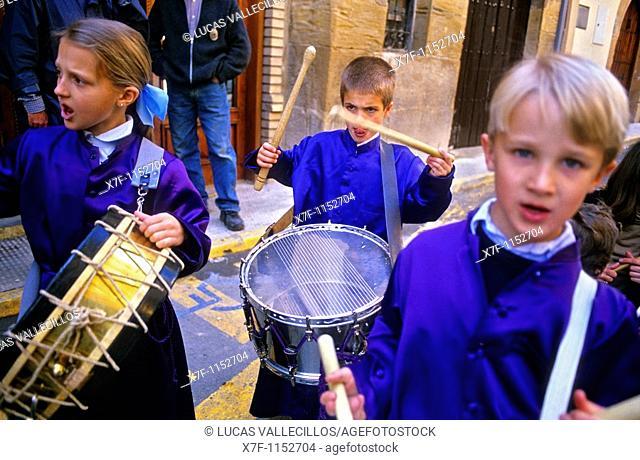 'Tamborrada', Holy Week  Calanda  Teruel province  Spain