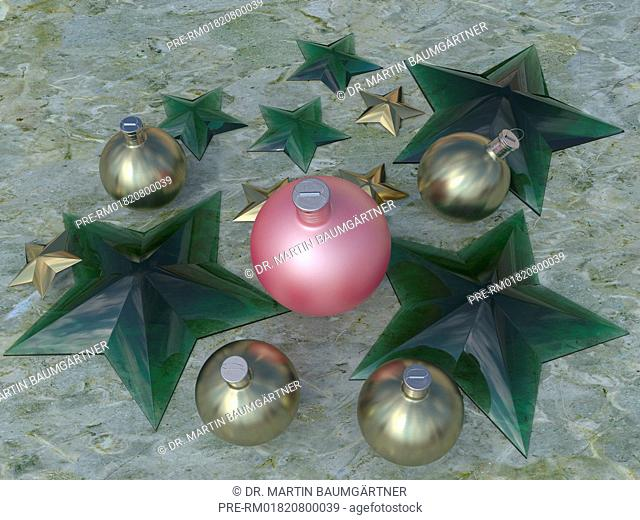Christbaumkugeln Sterne.Christmas Decoration Tree Stock Photos And Images Age