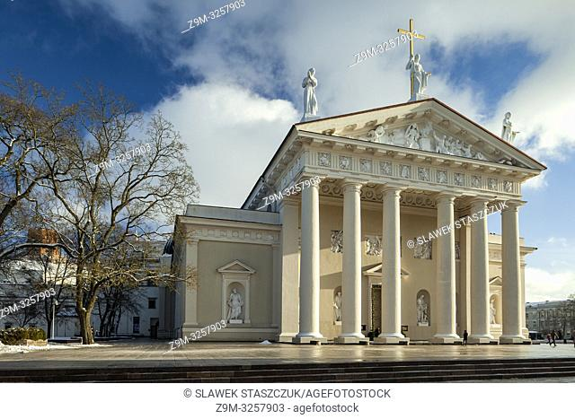 Winter afternoon at Vilnius Cathedral, Lithuania