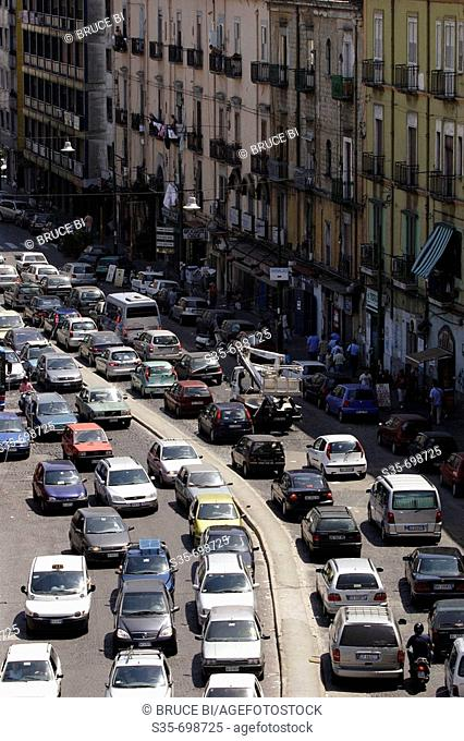 The traffic in the city of Naples. Naples. Campania. Italy