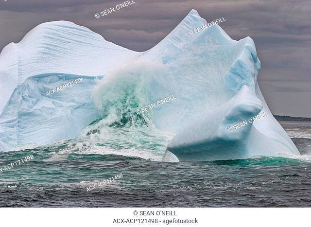 Grounded iceberg, Twillingate, Newfoundland